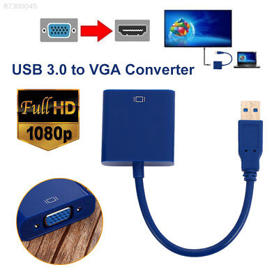 D71E Connector Cable Projector Computer HDTV Set-Top Box Tablet Safe USB To VGA