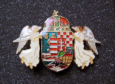 1890 Coat of arms of Kingdom of Hungary Badge