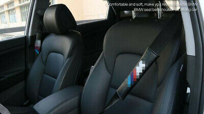 2× For BMW M Soft Car Safety Seat Belt Harness Shoulder Strap Pad Cushion Cover