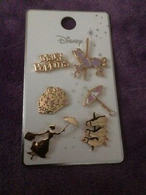 Disney New Mary Poppins Pin Badges Set Of Six New From Primark