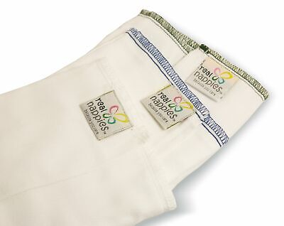 Real Nappies Cotton Nappy Prefolds - 6 pack