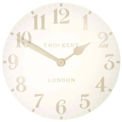 Thomas Kent 12 inch Arabic Wall Clock in colour White Linen