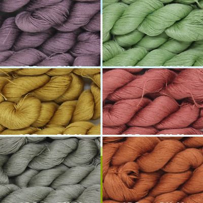 1 Skein - 300 Meters - 100% Silk Hand Embroidery Thread - Shiny - DYED
