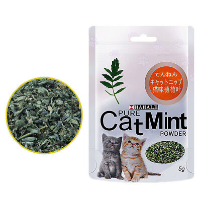 Cat Mint Powder Natural Catnip Funny Toy Fresh Breath Clean Mouth for Pet Kitten
