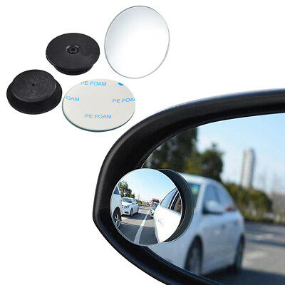 Blind Spot Mirror x 2 Glass Wide Angle 360° Convex Mirrors Rear View Round Set