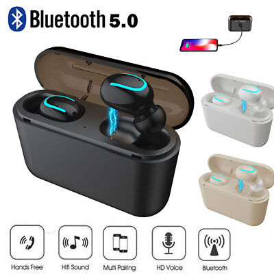 True Wireless Bluetooth 5.0 Earbuds TWS Headset Stereo Headphone Auto-pairing