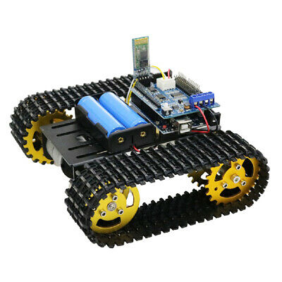 T101 Acrylic Metal Robot Tank Car Chassis Kit Motor For Arduino