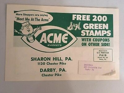 Vintage 1961 Acme Markets Green Stamps