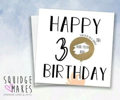 Personalised 30th Birthday Scratchcard * Gift Surprise Reveal * Scratchoff card