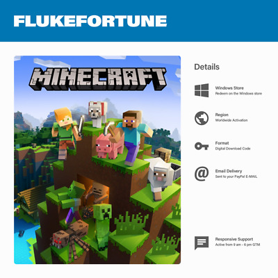 Minecraft Windows 10 Edition PC Full Game - Digital Download