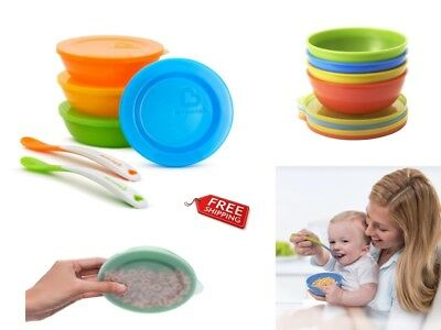 Munchkin Love A Bowls 10 Piece Bowl And Spoon Set For Weaning Toddler Feeding