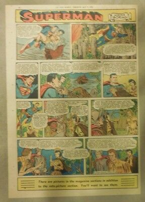 Superman Sunday Page #706 by Wayne Boring from 5/10/1953 Tabloid Page Size Rare