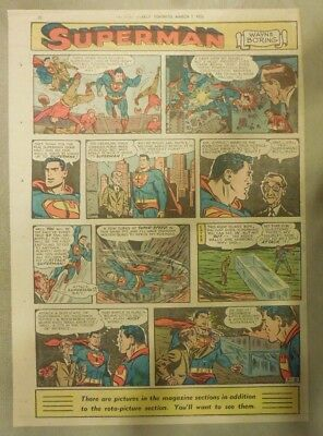 Superman Sunday Page #697 by Wayne Boring from 3/8/1953 Tabloid Page Size Rare
