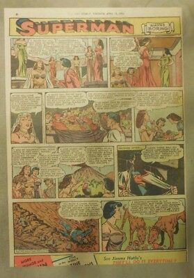 Superman Sunday Page #702 by Wayne Boring from 4/12/1953 Tabloid Page Size Rare