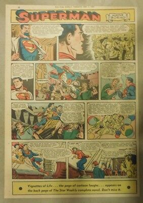 Superman Sunday Page #705 by Wayne Boring from 5/3/1953 Tabloid Page Size Rare