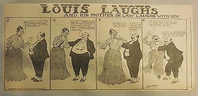 Louis Laughs Sunday By Callaway from 1905 Third Page Size!
