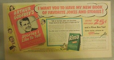 Rinso Soap Ad: The Rinso White Family Arthur Godfrey Rinso Ad 1950's