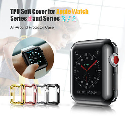 For Apple Watch Series 1 2 3 4 iWatch 40/44mm Clear TPU Screen Protector Case
