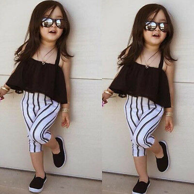 Fashion Style Cute Little Summer Outfits Clothes Bandage Girls Tutu Dress Black