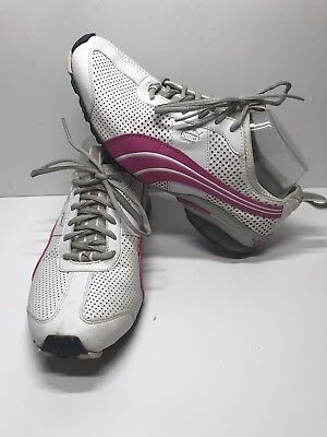 eebe74c7976546 PUMA 10 CELL Eco Ortholite Running Womens Black Pink Athletic Shoes ...