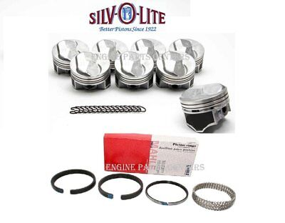 Chevy 7.4/454 Silvolite/FM Hypereutectic 30cc Dome Pistons+Cast Rings Kit STD