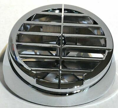 defroster vent round chrome plastic for Kenworth A Model dash top