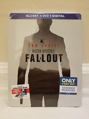 Mission Impossible: Fallout (Blu-ray, DVD, Digital, 2018) BBY Steelbook NEW!!!
