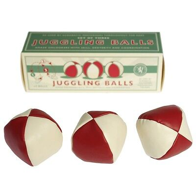 Rex London SET OF 3 JUGGLING BALLS IN A RETRO STYLE GIFT BOX