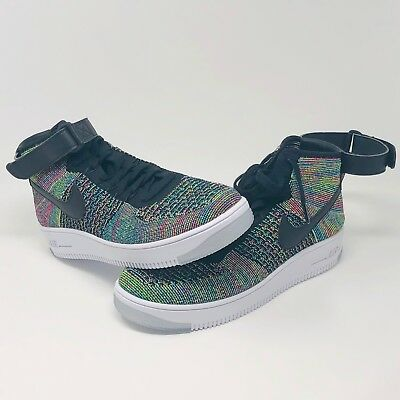 e8a49f6f233b20 Nike Air Force 1 Ultra Flyknit Mid Mens Size 10 Multi Color AF1 817420 601
