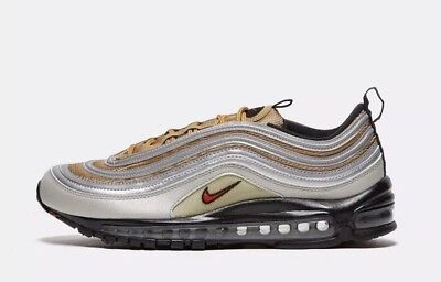 48fc07bfd2 NIKE AIR MAX 97 OG Grey Gold Lace Up Mens Trainers Size UK 8.5 - EUR ...