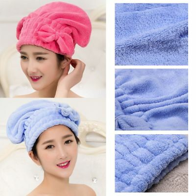 Multi-color Coral  Velvet Soft Bow Drying Wrap Hair Towels Quick Dry Cap