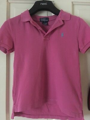 Pink Boys Fred Perry Polo Shirt Age 5