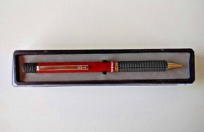 Vintage Papermate RT80 Red Marble Ballpoint Pen W 2 Hearts Medium Point Black