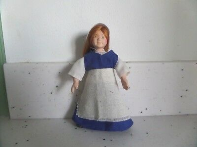 1/12th scale hand made little Tudor girl worker/kitchen maid doll house doll