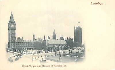 Cp Nuage London Clock Tower And Houses Of Parliament