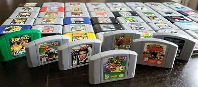 Nintendo 64 N64 Lot Of 56 Classic Games HUGE LOT Pokemon Mario Zelda Donkey Kong