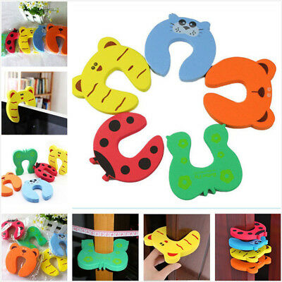 Cute Baby Proofing Jammers Pinch Foam Finger Safety Guard Slam Door Stoppers