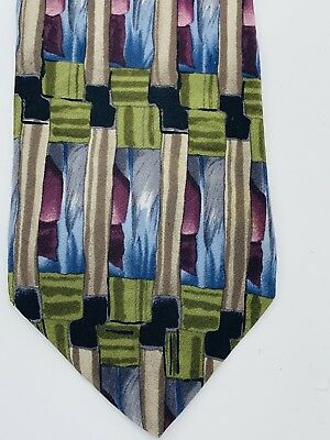Cocktail Collection Green/red/blue Men's Necktie Pre-Owned Free Shipping