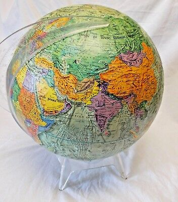 "Vintage 12"" Globe - 1973 - Reader's Digest Made By Replogle  Globes"
