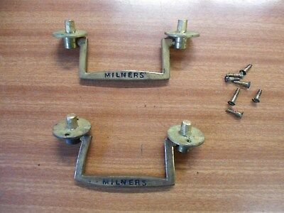 A Pair Of Milners Brass Safe Handles.