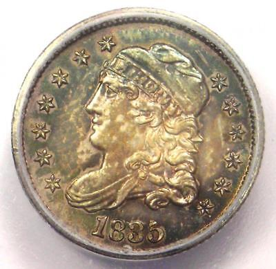 1835 Capped Bust Half Dime H10C Coin - Certified ICG MS63 (BU UNC) - $942 Value!