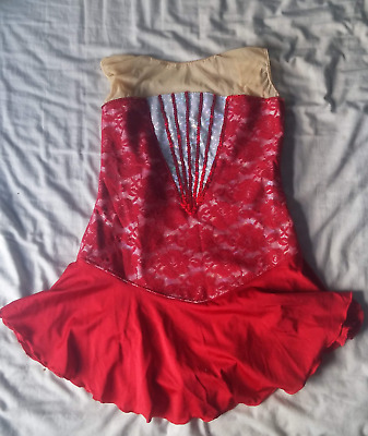 Red Leotard size 10/12 majorette Dance