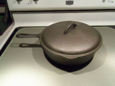 Vintage Cast Iron Chicken Fryer Skillet W/ Cast Iron Lid