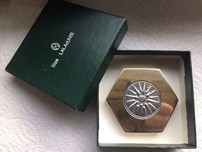 Designer Ilias Lalaounis Sterling Virginia Sun Star/Macedonian Star Paperweight