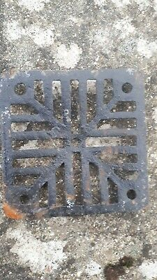 Vintage Cast Iron Victorian Drain Cover Grid Grate