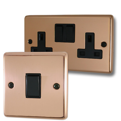 Copper Sockets and Switches (Black Switches)