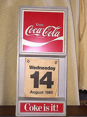 Coca Cola Collectible Calendar 1985