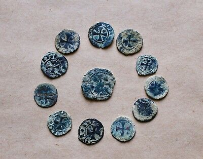 LOT OF 12  EARLY MEDIEVAL COINS TO BE CATALOGUED (13th-14th c.). VERY NICE!