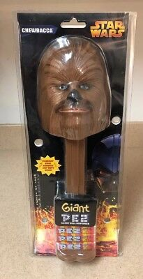 BRAND NIB STAR WARS CHEWBACCA Giant Pez Dispenser that plays authentic songs