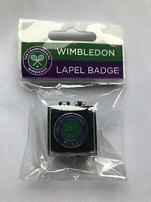 Wimbledon Tennis Metal Lapel Pin Badge New In Packet - Last One Available!